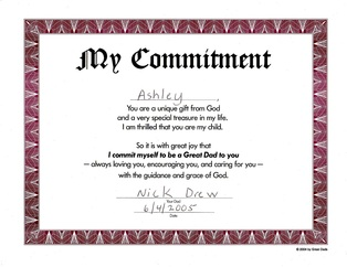 My Commitment to Ashley and God